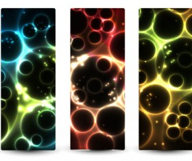 Abstract starry sky vector banner 03