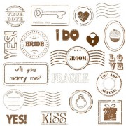 Link toSet of love seal label vector 02