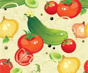 Various cartoon vegetable elements vector 01
