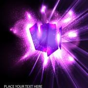 Link toOrnate neon light elements vector background 02