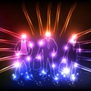 Link toOrnate neon light elements vector background 03