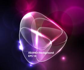 Ornate neon light elements vector background 04