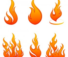 Elements of Vivid flame vector Icon 02