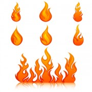 Link toElements of vivid flame vector icon 03