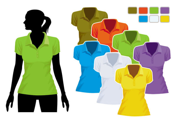 Mens and womens clothing design elements vector  01
