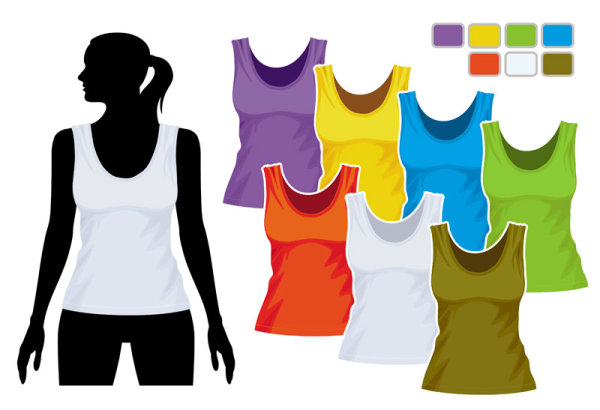 Mens and womens clothing design elements vector  05
