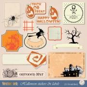 Link toFunny halloween labels vector 01