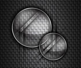 Set of glass frames vector background 03
