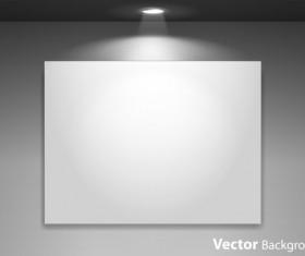 Spotlight Display wall background vector 01
