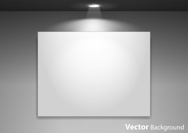 Spotlight display wall background vector 01 – Over millions
