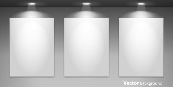 Spotlight Display wall background vector 02