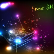 Link toOrnate neon light elements vector background 01