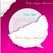 Link toSet of ripped paper dialogue labels vector 01