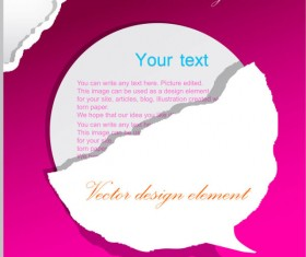 Set of Ripped Paper dialogue labels vector 01