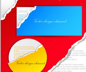 Set of Ripped Paper dialogue labels vector 02