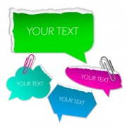Link toSet of ripped paper dialogue labels vector 04