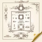 Link toVintage decorative pattern borders elements vector 01
