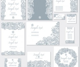 Exquisite Floral cards elements vector 01