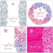 Link toExquisite floral cards elements vector 02