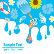 Link toCartoon summer elements vector 05