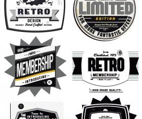 Set of Vintage commerce labels Stickers 02