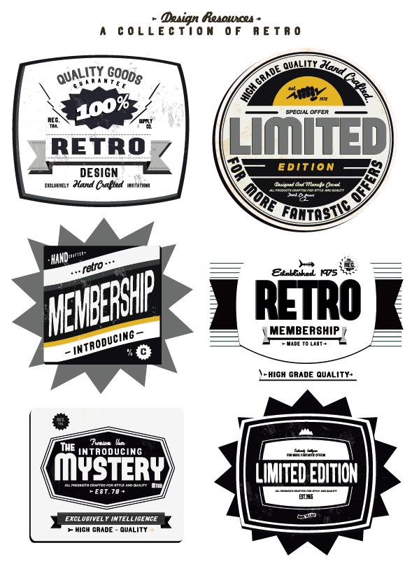 set of vintage commerce labels stickers 02 free download