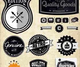 Set of Vintage commerce labels Stickers 03