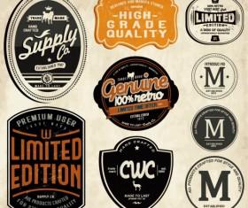 Set of Vintage commerce labels Stickers 04