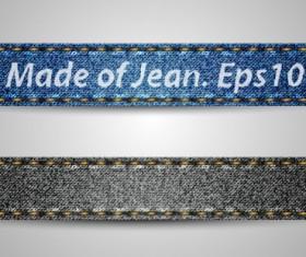 jean elements label Stickers vector 05