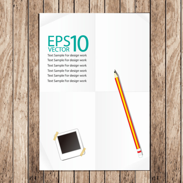 Set of Notepad design elements vector 02