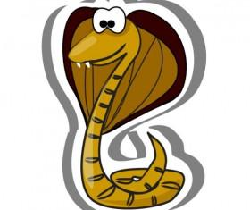 Elements of Funny cartoon Cobra vector 01