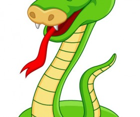 Elements of Funny cartoon Cobra vector 05