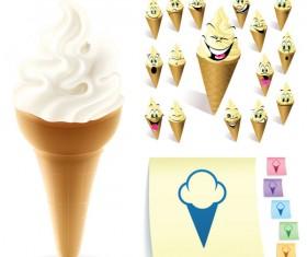 Funny cartoon Ice cream vector 01