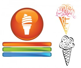 Funny cartoon Ice cream vector 02