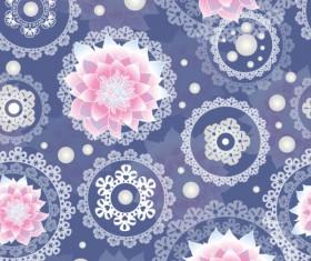 Set of ornate Floral background vector 01