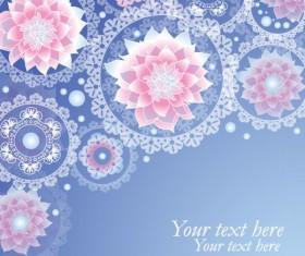 Set of ornate Floral background vector 04