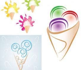 Funny cartoon Ice cream vector 03