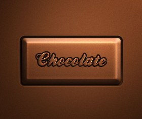 Chocolate color Buttons psd