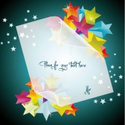 Link toCreative five pointed star vector background 04