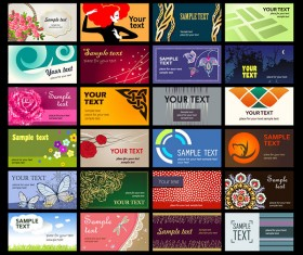 Set of Various cards Collection vector 01