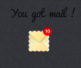 mail web icon PSD