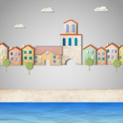 Link toSet of puzzle house vector background 01