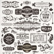 Link toVintage elements labels and borders vector 03