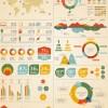 Set of infographics design elements vector 06