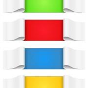 Link toCreative paper scrolls banner vector 02