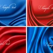 Link toSilk cloth elements background vector 04