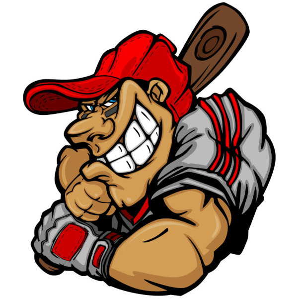 funny cartoon baseball player vector 01 free download cartoon bee vector art flying bee clipart vector