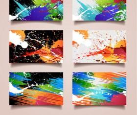 splash elements cards vector 01