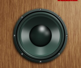 Speaker design elements psd file