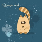 Link toCute cartoon small animal vector background 03